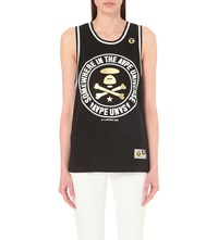 Aape By A Bathing Ape Logo Print Cotton Vest Black