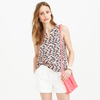J.Crew Notched Shell In Minnow Print