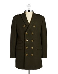 Tallia Orange Wool Blend Military Coat Olive