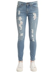 Tommy Hilfiger Distressed Raw Denim Jeans Gigi Hadid