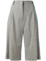 Eleventy Knee Length Tailored Shorts Grey