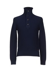 Boss Orange Knitwear Turtlenecks Men Dark Blue