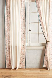 Anthropologie Sketched Edges Curtain Orange