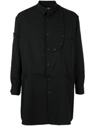 Yohji Yamamoto Bottom Zip Detachable Shirt Black