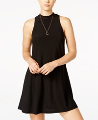 Jump Juniors' Mock Neck Shift Dress Black