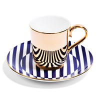 Richard Brendon Patternity Gold Coffee Cup And Saucer