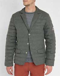 Pyrenex Grey Elegant Pr Flannel Down Quilted Jacket