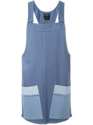 Stussy Pocket Detail Overall Dress Blue