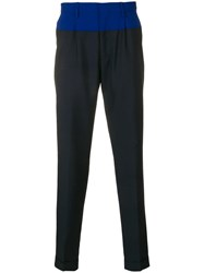 Tommy Hilfiger Two Tone Tailored Trousers Blue
