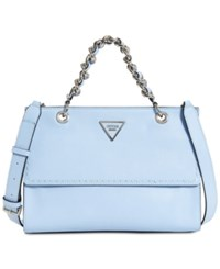 Guess Sawyer Small Satchel Sky