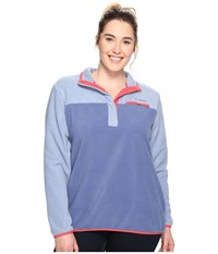 Columbia Plus Size Mountain Side Pullover Beacon Bluebell Women's Long Sleeve Pullover
