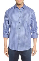 Bugatchi Men's Classic Fit Graphic Check Sport Shirt