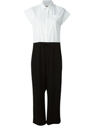 Isola Marras Contrast Shirt And Trouser Jumpsuit Black