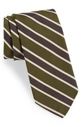 Men's Todd Snyder White Label Silk And Cotton Tie Olive