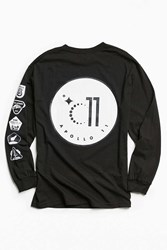 Urban Outfitters Apollo 11 Long Sleeve Tee Black
