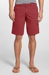 Original Paperbacks Men's 'St. Barts' Raw Edge Shorts Red Polo