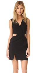 Kendall Kylie Deep Plunge Cutout Dress Black