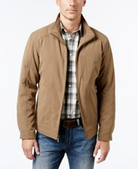 London Fog Big And Tall Microfiber Bomber Coat Khaki