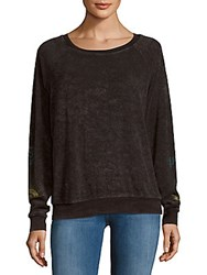 Project Social T Textured Cotton Blend Tee Black