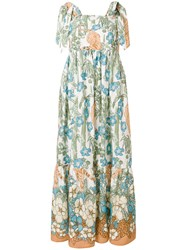 Shirtaporter Floral Flared Dress Multicolour