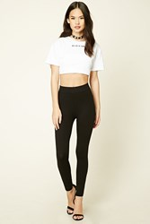 Forever 21 Classic Knit Leggings Black