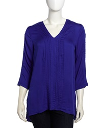 Xcvi Renee Stitched Detail Tunic Cobalt