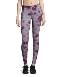 Marc New York Marc Ny Performance Tie Dye Flat Waist Leggings Cabernet