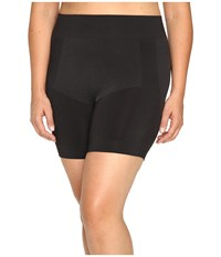 Hue Plus Size Seamless Shaping Shorts Black Women's Shorts