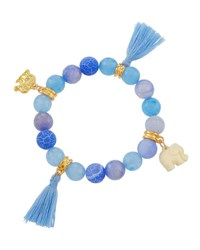 Emily And Ashley Blue Stretch Bead Bracelet