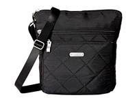 Baggallini Quilted Pocket Crossbody With Rfid Wristlet Black Quilt Cross Body Handbags