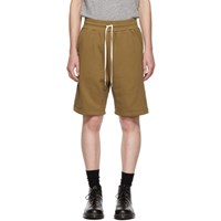 John Elliott Brown Sweat Shorts
