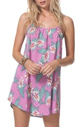 Rip Curl 'S Hot Shot Floral Cover Up Dress Purple