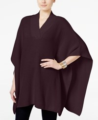 Styleandco. Style Co. V Neck Sweater Poncho Only At Macy's Dried Plum