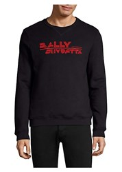 Bally Logo Embroidery Sweatshirt Marine