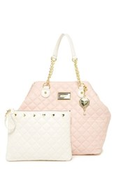 Betsey Johnson Trap Tote Pink