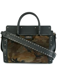 Furla Camouflage Medium Tote Black