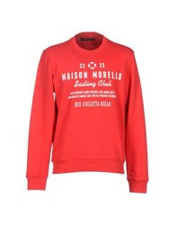 Frankie Morello Topwear Sweatshirts Men Red