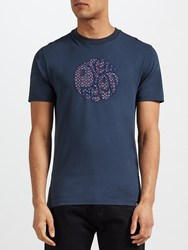 Pretty Green Rindle Logo Crew Neck T Shirt Navy
