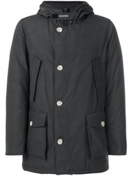 Woolrich Padded Hood Coat Men Cotton Feather Down Polyamide Xl Grey