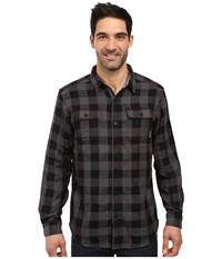 Columbia Hoyt Peak Long Sleeve Shirt Black Plaid Men's Long Sleeve Button Up