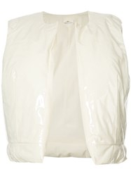 Comme Des Garcons Puffed Open Waistcoat White