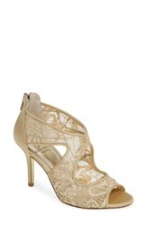 Adrianna Papell Arissa Lace Sandal Gold Lace