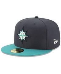 New Era Seattle Mariners Batting Practice Diamond 59Fifty Cap Navy Teal