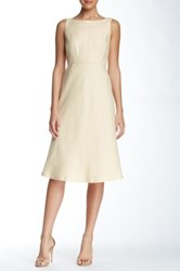 Lafayette 148 New York Dora Linen Dress Yellow