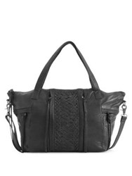Day And Mood Marie Leather Satchel Black