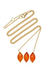 Brooke Gregson M'o Exclusive Triple Carnelian Marquise Necklace Orange