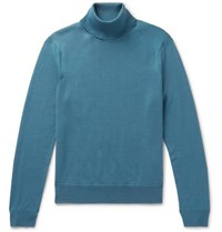 Sandro Wool Rollneck Sweater Blue