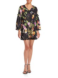 Alexia Admor Floral Printed Shift Dress Black Multi