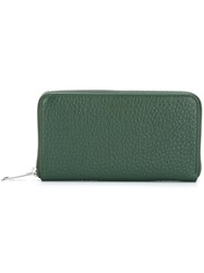 Orciani 'Soft' Wallet Green