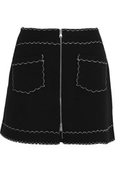Mcq By Alexander Mcqueen Stretch Knit Mini Skirt Black